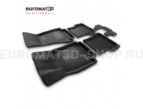 3D коврики Euromat3D EVA в салон для Audi A7 (2010-2018) № EM3DEVA-001107